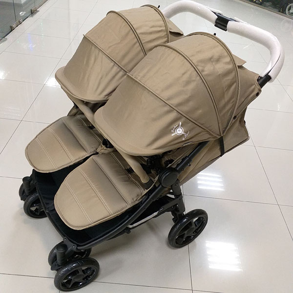 коляска для двойни рант биплан бежевая