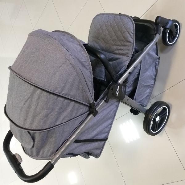 прогулочная коляска keka torneo светло-серая