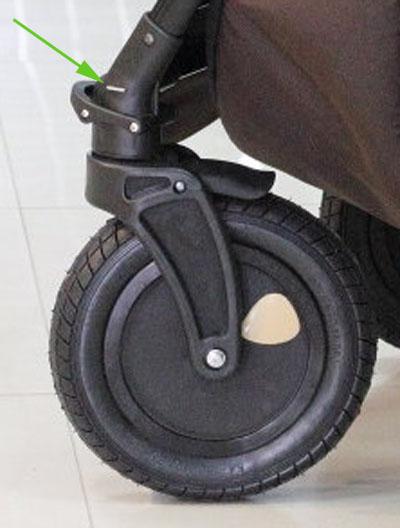 Как сделать колесо на коляске zippy